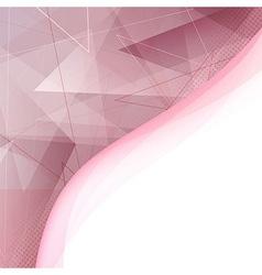 Modern folder template - triangular elements vector