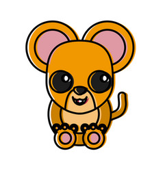 mouse animal cartoon vector image