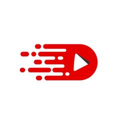 Move video logo template vector