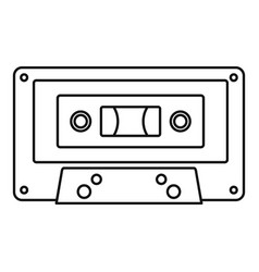music casette icon outline style vector image