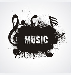 music notes vintage abstract musical background vector image