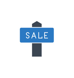 nameplate sale related glyph icon vector image
