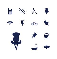 Needle icons vector