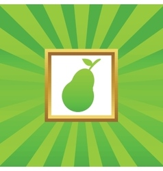 Pear picture icon vector image