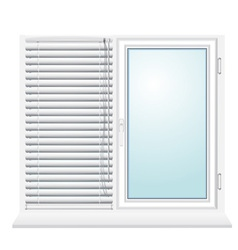 plastic window with jalousies vector image