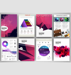 purple polygonal backgrounds abstract concept vector image