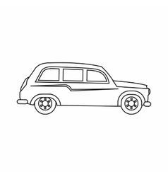 Retro car icon outline style vector image