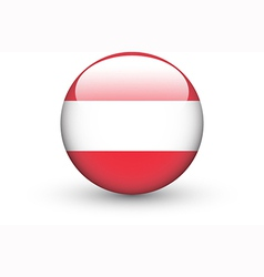 Round icon with national flag of Austria vector image
