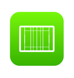 Rugby field icon digital green vector