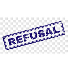 Scratched refusal rectangle stamp vector