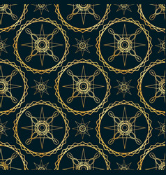 Seamless pattern for fashion design on a dark vector