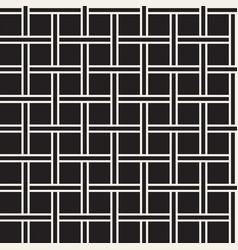 seamless woven stripes lattice pattern modern vector image