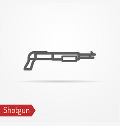 Shotgun silhouette icon vector