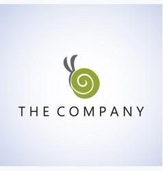 Snail logo ideas design on vector
