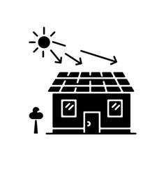 Solar batteries black glyph icon vector