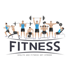 sport fitness banner promotion vector image