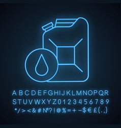 Steel jerry can neon light icon vector
