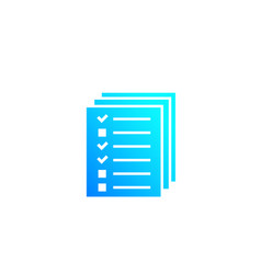 Tests survey icon on white vector