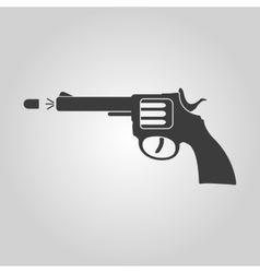 The gun icon Pistol and handgun weapon revolver vector