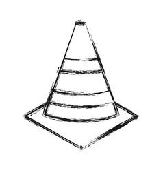 Traffic cones icon vector