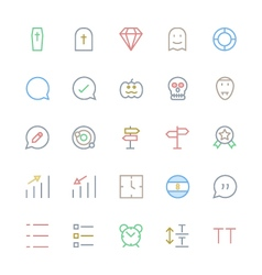 User Interface Colored Line Icons 47 vector