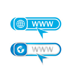 Website address icons vector