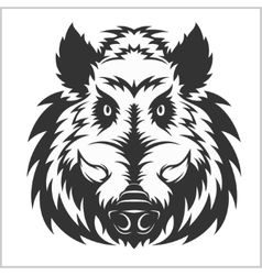 Wild Boar Head Logo Mascot Emblem vector image