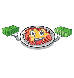 With money bag carpaccio isolated with in the vector