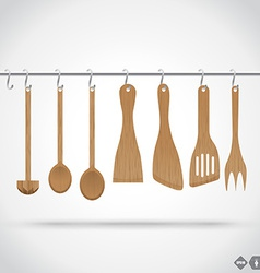 Wooden Utensils vector