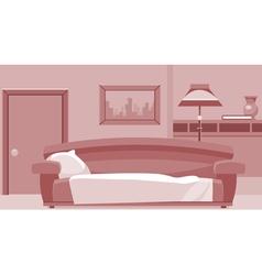 cartoon interior room vector image vector image