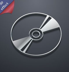 Cd DVD compact disk blue ray icon symbol 3D style vector image