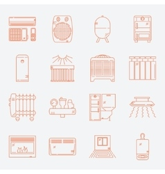 House Heating Icon Set vector image vector image