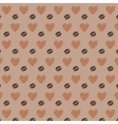 Love Coffee Beans Seamless Pattern vector image vector image