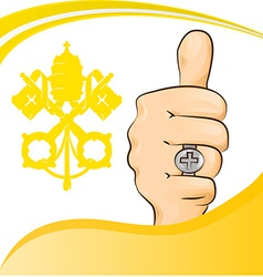 pope thumb-up symbol vector image