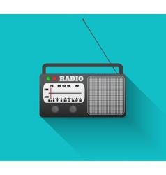 Radio retro vector