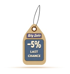 Sale tag label with text vector image