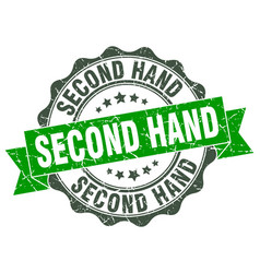 second hand stamp sign seal vector image