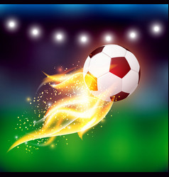 Soccer Ball With Fire vector image vector image