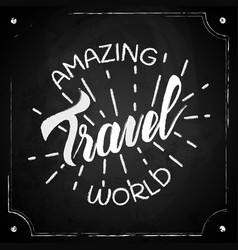 typography poster travel vector image vector image