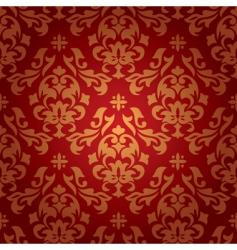 vintage damask wallpaper vector image