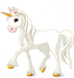White unicorn vector