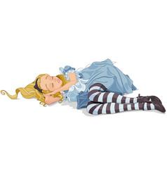 Alice sleeping vector