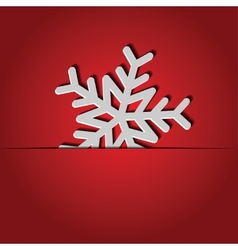 background with paper snowflake vector image vector image