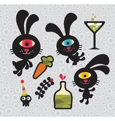 bunny cartoons vector image vector image