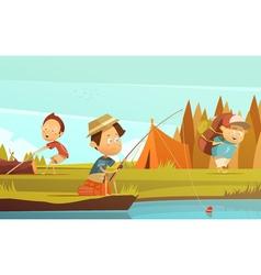 Camping Children vector image