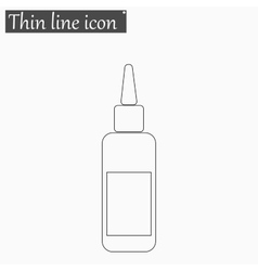 image of a vaccine vial icon Style thin vector image vector image