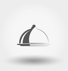 serving dish with a lid icon vector image
