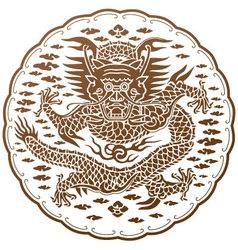 The spiritual dragon of chinese myth vector
