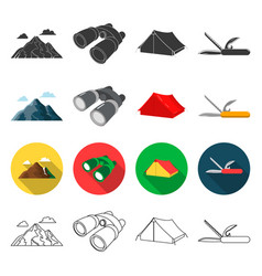 tourism nature recreation and other web icon in vector image