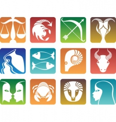 zodiac sign silhouettes vector image